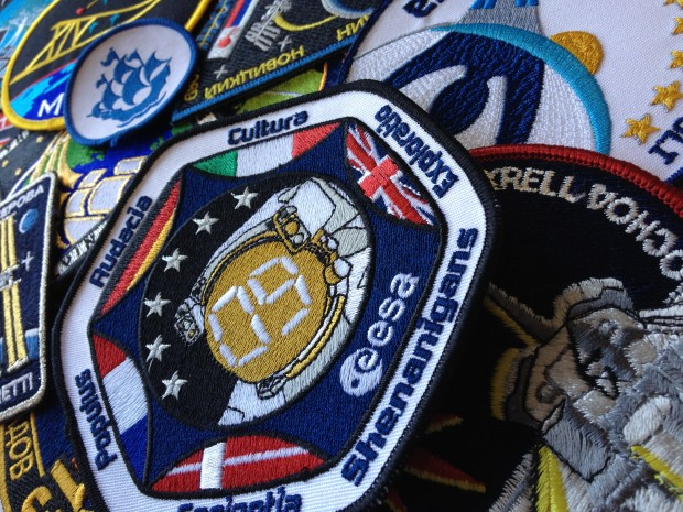 Image of a selection of mission patches