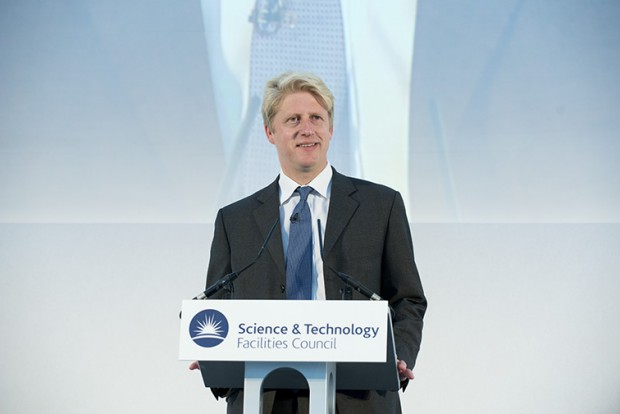 RAL Space's new building, R100, was inaugurated by Jo Johnson MP, Minister of State for Universities and Science at STFC's Rutherford Appleton Laboratory on the 9th July 2015. Image shows Mr Johnson inaugurating the building.