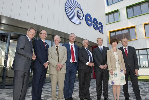 ESA's European Centre for Space Applications and Telecommunications, ECSAT, building inauguration at STFC's Rutherford Appleton Laboratory, 9th July 2015. Image shows Jo Johnson MP, Minister of State for Universities and Science speaking at the event.