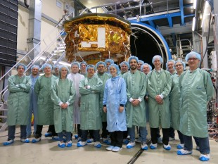 Members of the LPF Team after successful Thermal Vacuum Test @ IABG in Munich (April 2015)