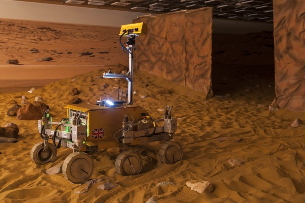 Controlling rovers on planetary surfaces from an orbiting spacecraft
