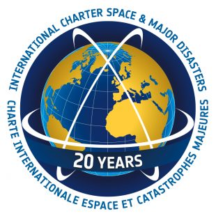 Disaster Charter 20th Anniversary logo