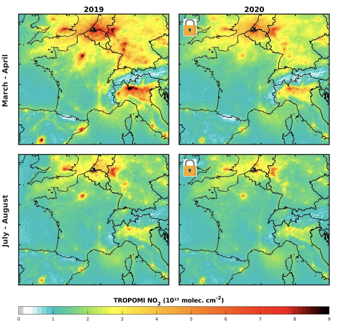 Air pollution map of Europe