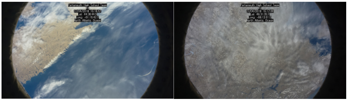 Some pictures taken from the ISS with the Raspberry Pi using Lowena's code