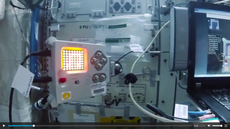 The Raspberry Pi working on the Space Station