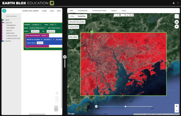 False colour time series of the Greater Bay Area of Hong Kong, China